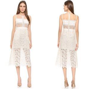 Veronica Beard Grace Sleeveless Lace A-Line Dress